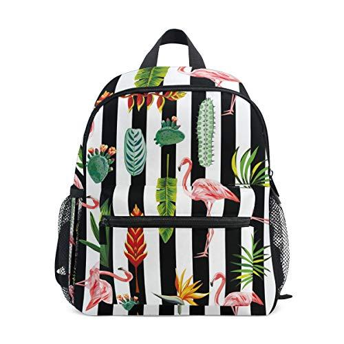 kind Rucksack, Tier-Flamingo-Streifen, Tropische Vorschul-Buch-Tasche für Kinder, Jungen, Mädchen ()
