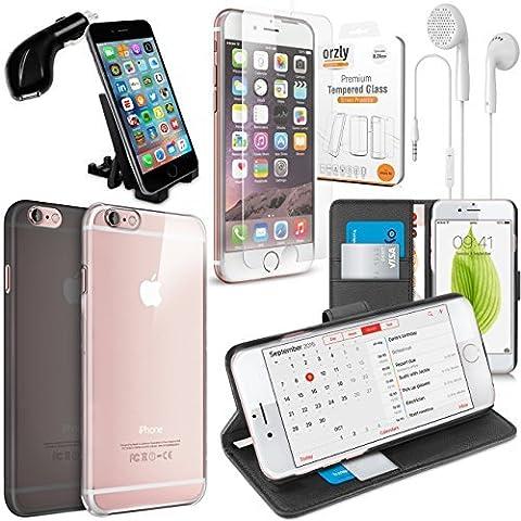 iPhone 6S Zubehörpak - Orzly® Schutzhülle & Zubehör Bundle Pack für Apple iPhone 6 (2014) & iPhone 6S (2015)