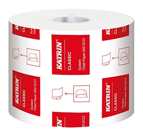 Katrin 103424 Classic System Toilet 800 ECO Toilettenpapier, 2-lagig (36-er Pack)
