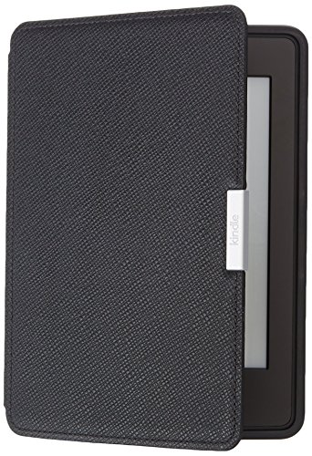 Amazon - Funda de cuero para Kindle Paperwhite, color negro ónix - compatible con todas las generaciones de Kindle Paperwhite