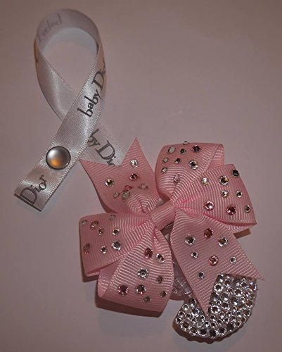 dummy-clip-pacifier-clip-princess-pacifier-clip-swarovski-baby-bling-designer-handmade-dior-ribbon-b