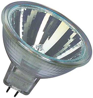Osram 10-er Set Decostar 51s 12 Volt 35 Watt Sockel Gu5,3 36 Halogenlampe mit Kaltlichtspiegelreflektor und Abdeckscheibe, Durchmesser 51 mm 44865WFL von Osram