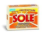 Sole - Sapone per Bucato, Marsiglia, Ideal per Pretrattare - 3 confezioni da 2 saponette da 250 g [6 saponette, 1500 g]