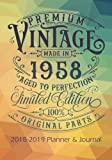 Premium Vintage Made In 1958 Aged To Perfection All Original Parts: 2018 - 2019 Calendars, Journal, Planners & Personal Organizers - Organization - ... Gifts For Women, Books, Journals, Planners)