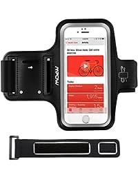 Mpow Sportarmband iPhone,Handy Armband Ultra Softes Armband Handy Halter Sport,Sportarmband Hülle mit Kopfhörer,Schlüsselhalter,Verlängerungsband und reflekltierendes Band für iPhone7/8/X/6/6S/5/5S//SE,Galaxy S7 / S6,bis zu 5.1 Zoll,einstellbare Größe, Sweatproof