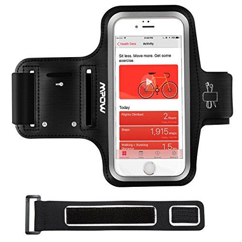 Handy Sportarmband iPhone, Handy Armtasche, Oberarmtasche Kopfhörer, Schlüsselhalter, Verlängerungsband, sportarmband hülle für iPhone X/8/7/6/6s, Samsung Galaxy S, bis zu 5.1 Zoll, wasserdicht