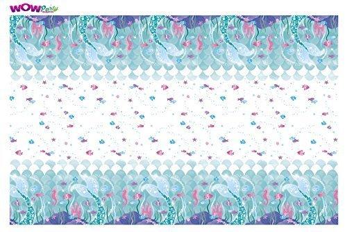 WOW Mermaid Plastic Tablecloth, 7ft x 4.5ft