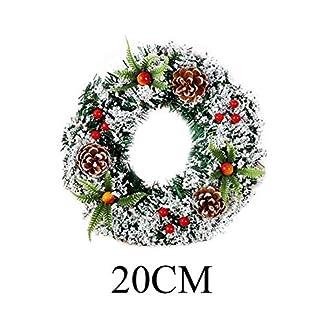 GCDN Tmas Corona Hogar Reutilizable Fiesta Oficina Ornamento Festival Artificial Colgante de Pared Decoración Árbol Regalos Pino Puerta Ventana Guirnalda (20cm) – como Imagen Show, 20cm