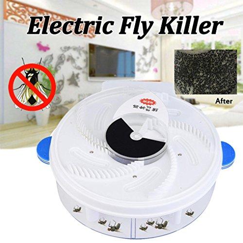 Diadia autumatic Electric Purple Light Fly Trap USB Aufladen Gerät mit Fallenjagd Lebensmittel + Brush-Non-Toxic und sicher Blau