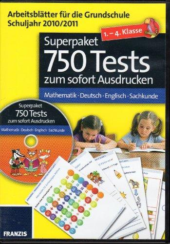 Arbeitsblätter Grundschule Schuljahr 2010 - 2011 - 1. bis 4. Klasse - Superpaket 750 Tests - Mathematik - Deutsch - Englisch - Sachkunde Mathematik 2010