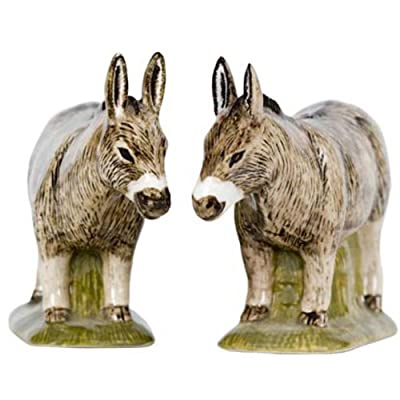 Quail Ceramics - Brown Donkey Salt And Pepper Pots from Quail Ceramics