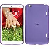 Funda de silicona para LG G Pad 8.3 - X-Style púrpura - Cover PhoneNatic Cubierta + protector de pantalla