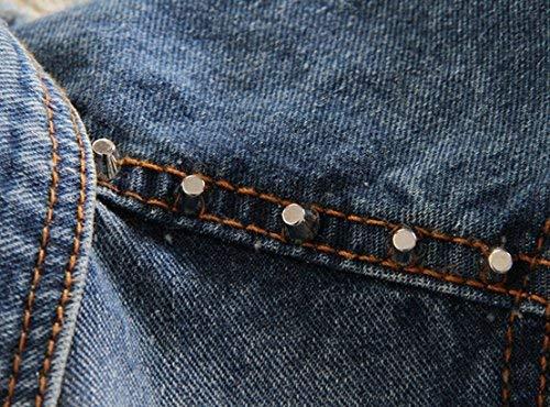 Lannister Gilet Jeans Donna Casual Fashion Strappato Smanicato Giacche Jeans Gilè Eleganti Casual Vintage Ragazza Distressed Denim Giacche Giubotto