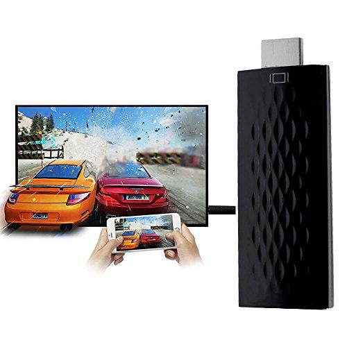 HDMI Adaptateur sans fil, Enshey 5GHz Adaptateur HDMI sans fil WIFI Partager de Photos/Vidéo/Musique/Jeu/Internet à Partir de iPhone/iPad sur la TV, Monitor or Projector – Noir