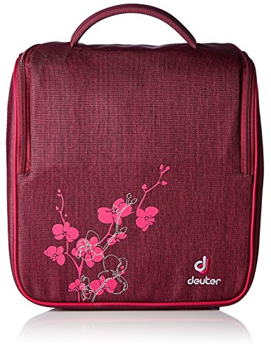 Deuter Damen Kulturtasche Wash Room Kulturbeutel, BlackBerry Dresscode, 27 x 26 x 13 cm