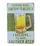 Fablcrew Blechschild Bier Metall Werbung Wand Schild für Poster Wall Pub Bar Coffee Shop 30cm*20cm