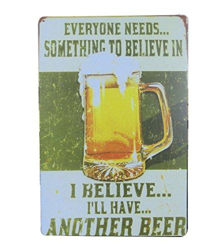 DaoRier Blechschild Retro Werbung Wand Bier Schilder Malerei Poster Metall Schild für Bars, Club Dekoration