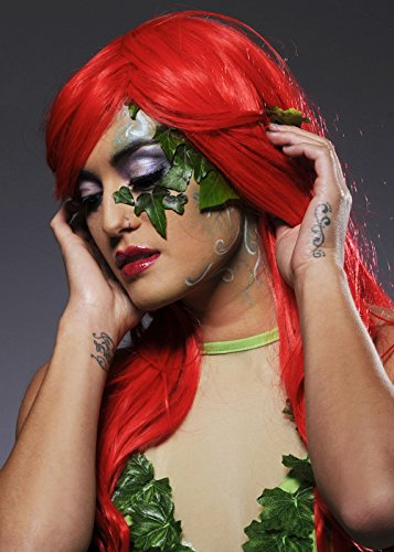 Womens Long Bright Red Poison Ivy Style ()