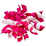 NeedyBee Baby Girls Hair Clip with Pink n White Korker Bow Hair Accessories Amazon