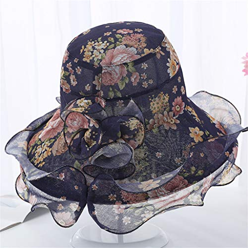 ToDIDAF FY33 Kentucky Derby Hat for Women, Organza Church Dress, Bowler Hat, Sun Hat, Wedding Hat, Fascinator Bridal Tea Party Shopping Formal Occassion Outdoor Activities, 57CM (Navy) Old Navy Bow Tie
