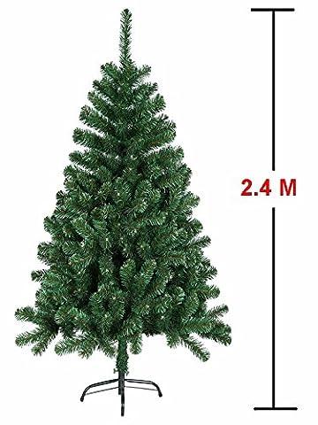 MCTECH Festive Künstlicher Weihnachtsbaum mit Ständer Andere Größe- Farbe: Grün PVC Dekobaum (240CM)
