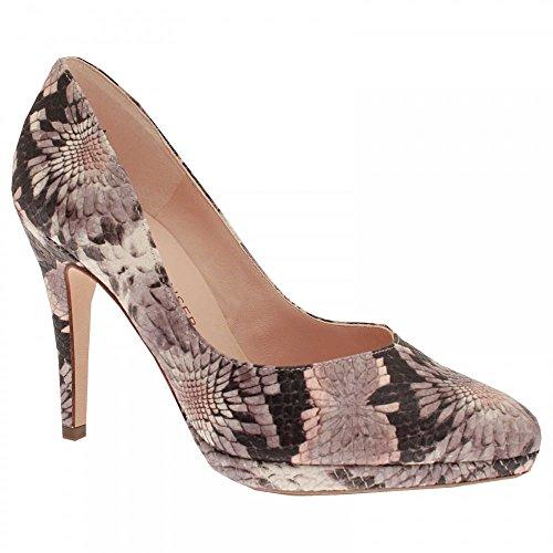 Peter Kaiser Classic High Heel Platform Court Shoe Grey Multi