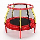 Trampolines pour Tout-Petits de 2 à 5 Ans à l'intérieur - Cadeau d'anniversaire pour garçons, Table de Saut d'obstacles avec Filet de Protection, 100 kg (Couleur : Red)