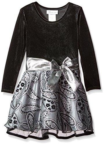 Bonnie Jean Mädchen Festtags-Kleid, X-Mas Dress X26277-DL, Gr. 2T (ca. 92), Grey (Baby Bonnie Outfits Christmas)