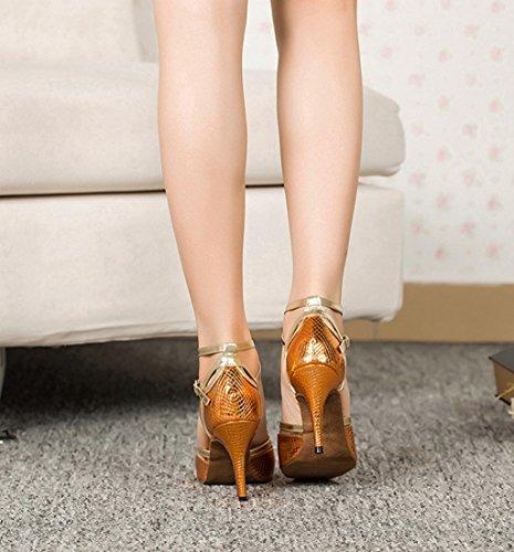 Meijili - Scarpe con plateau donna Giallo