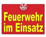 Warnschild Feuerwehr im Einsatz 20x15cm rot