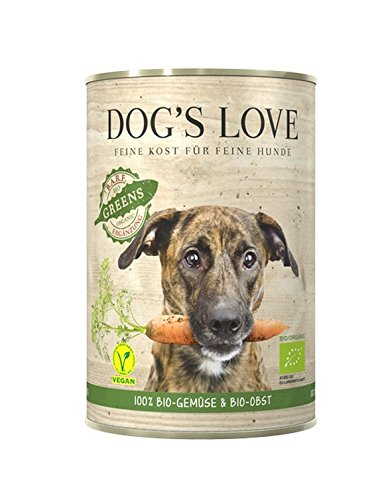 DOG\'S LOVE BIO Gemüse Hundefutter Barf Zusatz Greens Vegan mit Gemüse & Obst (6 x 400g)