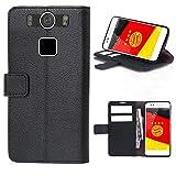starz mobiles accessoires Gigaset ME - PU Leder Tasche Hülle/TPU Schutz Handytasche (Wallet Black)
