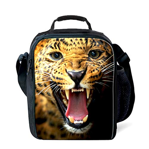 KIdS Isolierte Mittagessen Taschen Für Lebensmittel Kinder 3D Cheetah Lunch Tote Box Mit Schulter Verstellbaren Riemen