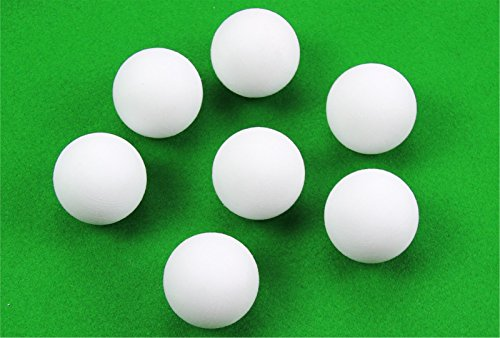 3 x 36mm SOLID WHITE SCUFFED Football Table Balls With Rubber Grip Coating!