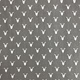 Rentier grau Design 100% Lifestyle Weihnachts Baumwolle
