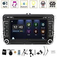 Auto GPS-Stereo mit Navigation  eunavi 17,8cm 2DIN Auto-DVD-Player für VW PASSAT B6Golf 456Polo passatcc Jetta Tiguan Touran Eos Sharan Scirocco Caddy HD mit GPS Sat Navi Karte Integriertes Bluetooth Autoradio