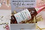 Personalisiertes Flaschenetikett Trauzeugin/Brautjungfer Hochzeit