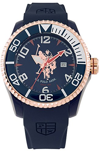 US Polo Association Reloj Analógico para Hombre de Cuarzo con Correa en Caucho USP4277RG