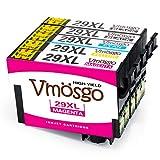 Vmosgo 29XL Ersatz für Epson 29 29XL Druckerpatronen Kompatibel mit Epson Expression Home XP-342 XP-332 XP-245 XP-442 XP-445 XP-235 XP-435 XP-247 XP-345 XP-335 (2Schwarz, 1Cyan, 1Magenta, 1Gelb)
