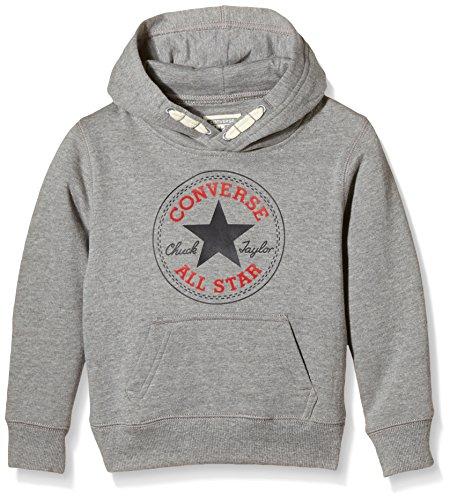Converse Core Pullover, Felpa Bambino, Grigio (Vintage Grey Heather), 6-7 anni (Taglia Produttore: 6-7Y)
