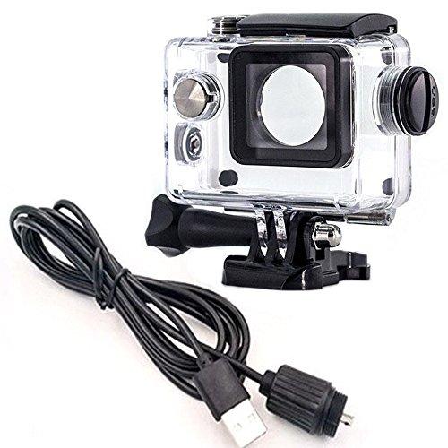Sj4000 Auto-kamera Wasserdicht (Motorrad Kit Wasserfeste Schutzhülle + Auto Ladegerät für Sport Kamera SJCAM SJ4000Serie, OEM SJ6000/sj7000/sj8000/SJ9000Serie für Motorrad (Lite Edition))