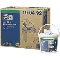 Tork 190492 Seau de chiffons de nettoyage non pelucheux Premium, système W10 / Contient une bobine de chiffons un pli - 60m x 16,5cm - seaux - Turquoise