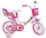Denver - Bicicleta Infantil de 14 Pulgadas, diseño de Unicornio, Color Blanco y Rosa