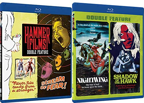 Dead of Night Hammer 4 Pack Horror Film Features Blu Ray Nightwing / Shadow of the Hawk + Never Take Candy from a Stranger / Scream of Fear Terrifying Adventure Set