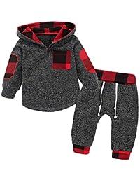 Borlai Baby Boy Girl Sudadera con Capucha Pantalones y Tops Conjuntos de Ropa Conjuntos de Regalos de Sudadera Encantadora de Moda, 0-36 Meses, 2 Piezas