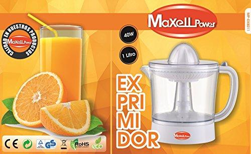 MAXELLPOWER EXPRIMIDOR DE Zumo ELECTRICO EXPRIMIDORA DE Naranjas Fruta 1L 40W DE Potencia