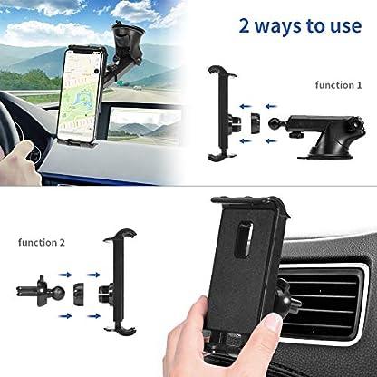 Kaome-2-in-1-Handyhalter-frs-Auto-Windschutzscheibe-Lftung-Handyhalterung-Universal-KFZ-Handy-Halterung-360-Drehbar-Kugelgelenk-mit-Gel-AuflageTeleskoparm-Autohalterung-Handy-mit-Kratzschutz