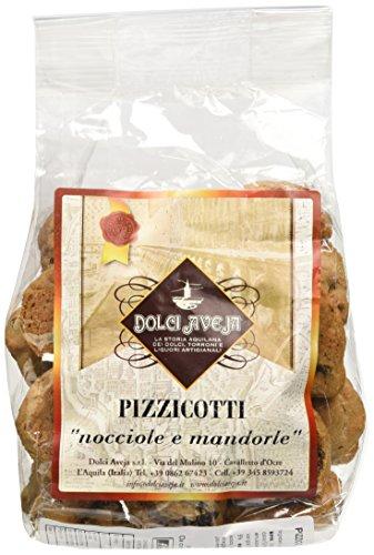 Dolci aveja pizzicotti nocciole e mandorle biscotti artigianali da colazione - pacco da 2 x 350 g
