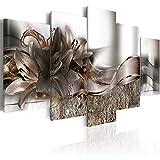murando - Bilder 200x100 cm Vlies Leinwandbild 5 TLG Kunstdruck modern Wandbilder XXL Wanddekoration Design Wand Bild - Blumen Lilien Abstrakt b-A-0273-b-o