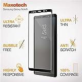 Verre trempé incurvé haut de gamme pour Samsung Galaxy Note8, protège écran en verre trempé pour écran anti rayures sans bulles facile à installer ultra résistant 9H Glass Screen Protector curved pour